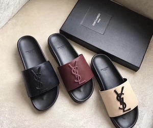 shoes, slippers, and YSL image