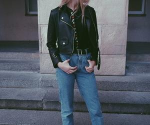 blonde, grunge, and leatherjacket image