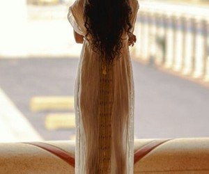 brown hair, long hair, and egypt image