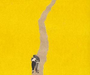 illustration and yellow image