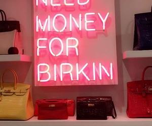 pink, Birkin, and money image