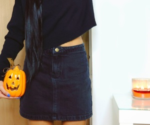 autumn, outfit, and candles image
