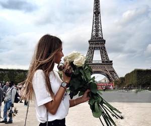paris and flowers image