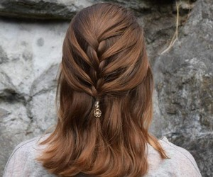 adorable, braids, and hairstyle image