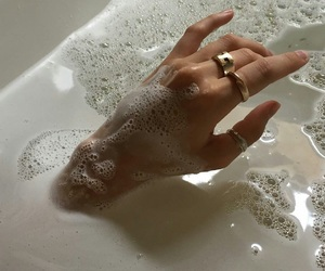 aesthetic, bath, and rings image
