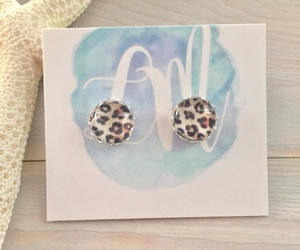 etsy, leopard print, and leopard earrings image