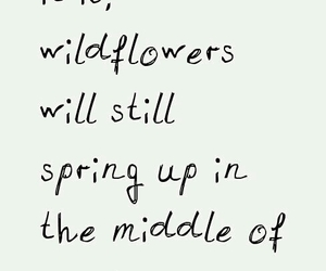 hope, wildflowers, and words image