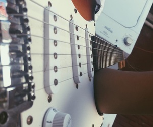 electric, guitar, and j image