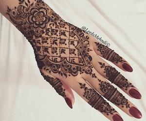 arabic, hand art, and mehndi image