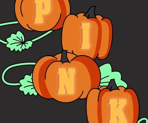 Halloween, pink, and wallpaper image