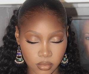 beautiful, earrings, and hair image