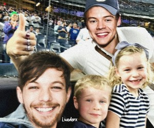 larry stylinson, family, and louis tomlinson image
