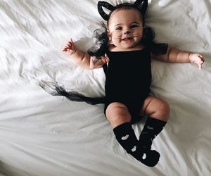 baby, child, and cat image