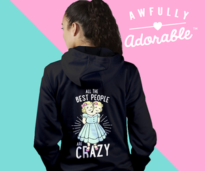 crazy, hoodie, and pullover sweatshirt image