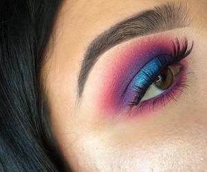 blue, eyeshadow, and makeup image