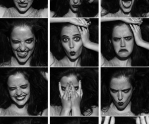 eva green and black and white image