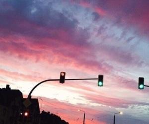 cars, lights, and sky image