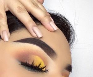 nails, eyeshadow, and makeup image