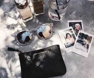 sunglasses, summer, and polaroid image