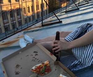 pizza, alternative, and beer image