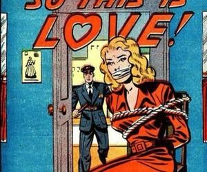 comic, love, and retro image