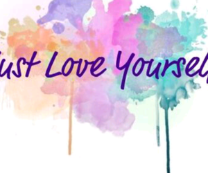love, love yourself, and colors image