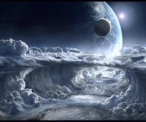 clouds, space, and wallpaper image