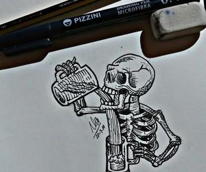art, beer, and bones image