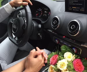 audi, couple, and engagement image