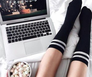 friends, tumblr, and hot chocolate image