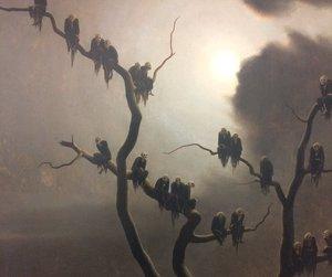 1933, art, and tree image