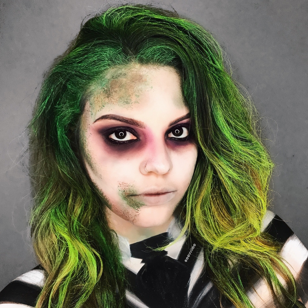 Female Beetlejuice Makeup Tutorial Saubhaya Makeup
