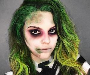 beetlejuice, Halloween, and makeup tutorial image