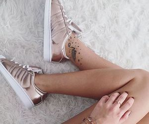 girly, shiny, and sneakers image