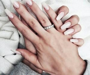 nails, ring, and pink image
