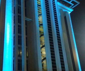 azul, blue, and edificio image