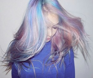 hair, grunge, and pony image