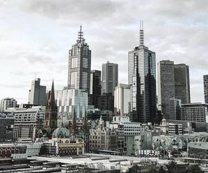 city, gloomy, and modern image