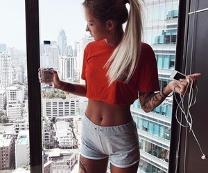 fit, gym, and girl image