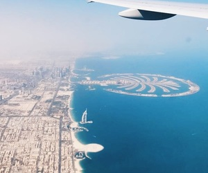 airplane, Dubai, and travel image