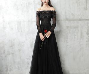 evening dress, girls, and formal dresses image