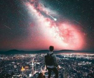 alone, night, and view image
