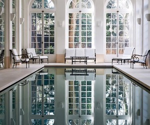 pool, interior, and home image