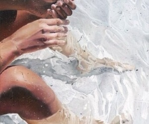 water, summer, and art image