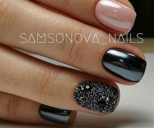 nails, manicure, and love image
