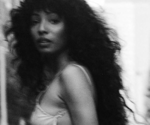 beauty, black and white, and blurry image