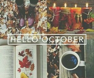 autumn, october, and books image