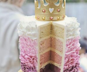 cake, pink, and princess image