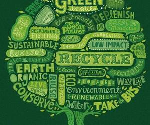 green, recycle, and earth image