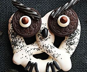 owl, Halloween, and chocolate image